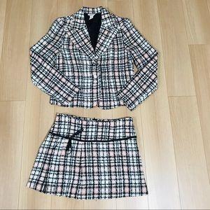 Dresses & Skirts - CHELSEY WOMAN 2PC SKIRT SET SUIT PLAID VINTAGE